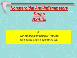 Nonsteroidal Anti-Inflammatory Drugs NSAIDs
