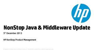 NonStop Java & Middleware Update