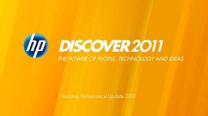 NonStop Performance Update 2011