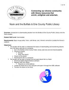 Nook and the Buffalo & Erie County Public Library