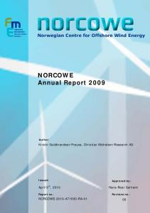 NORCOWE Annual Report 2009