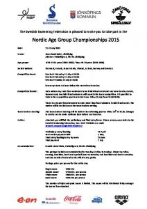 Nordic Age Group Championships 2015