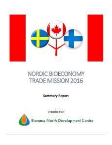 NORDIC BIOECONOMY TRADE MISSION 2016
