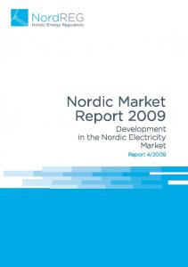 Nordic Market Report 2009 Development in the Nordic Electricity Market
