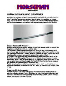NORDIC SKIING WAXING GUIDELINES