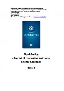 Nordidactica Journal of Humanities and Social Science Education 2015:2