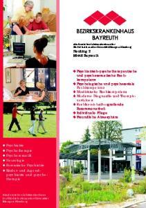 Nordring Bayreuth. Psychiatrisch-psychotherapeutische und psychosomatische Fachkompetenz. Psychologische und psychosoziale