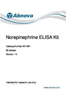 Norepinephrine ELISA Kit