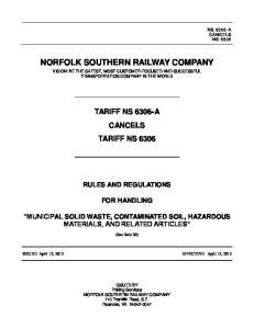 NORFOLK SOUTHERN RAILWAY COMPANY
