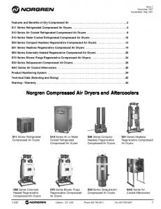 Norgren Compressed Air Dryers and Aftercoolers