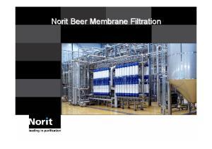 Norit Beer Membrane Filtration