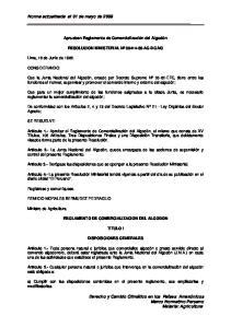 Norma actualizada al 01 de mayo de 2009