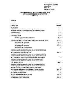 NORMA CUBANA DE CONTABILIDAD No. 2 ESTADO DE FLUJOS DE EFECTIVO (NCC 2)