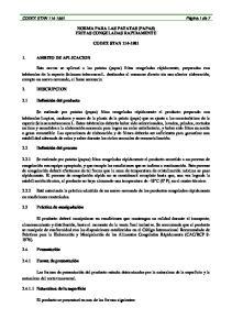 NORMA PARA LAS PATATAS (PAPAS) FRITAS CONGELADAS RAPIDAMENTE CODEX STAN