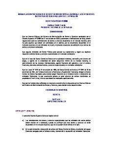 NORMAR LAS CONTRATACIONES DE BIENES Y SERVICIOS ESPECIALIZADOS QUE LAS ENTIDADES DEL SECTOR PUBLICO DEBEN REALIZAR EN EL EXTRANJERO