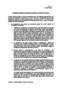NORMAS APLICABLES A LAS COOPERATIVAS DE AHORRO Y CREDITO