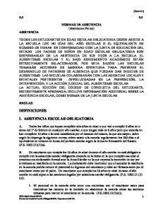 NORMAS DE ASISTENCIA (Attendance Policy)