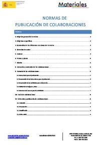 NORMAS DE PUBLICACIÓN DE COLABORACIONES