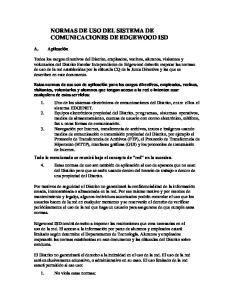 NORMAS DE USO DEL SISTEMA DE COMUNICACIONES DE EDGEWOOD ISD