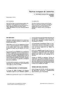 Normas europeas de cementos