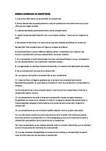 NORMAS GENERALES DE COMPETICION