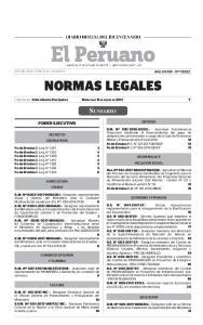 NORMAS LEGALES SUMARIO PODER EJECUTIVO DEFENSA