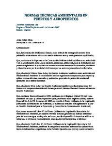 NORMAS TECNICAS AMBIENTALES EN PUERTOS Y AEROPUERTOS