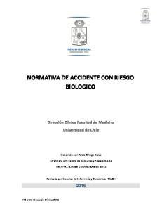 NORMATIVA DE ACCIDENTE CON RIESGO BIOLOGICO