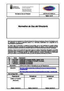 Normativa de Uso del Directorio