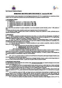NORMATIVA DE WATERPOLO-ASPECTOS GENERALES - Temporada