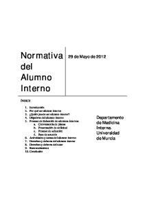 Normativa del Alumno Interno