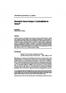 Normative Power Europe: A Contradiction in Terms?*