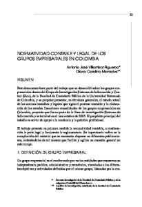 NORMATIVIDAD CONTABLE Y LEGAL DE LOS GRUPOS EMPRESARIALES EN COLOMBIA