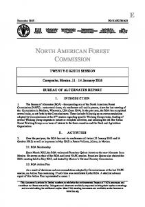 NORTH AMERICAN FOREST COMMISSION