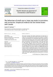 North American Journal of Economics and Finance