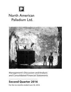 North American Palladium Ltd. TABLE OF CONTENTS