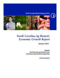 North Carolina Ag Biotech: Economic Growth Report