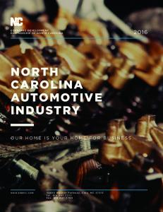 NORTH CAROLINA AUTOMOTIVE INDUSTRY
