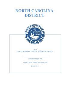 NORTH CAROLINA DISTRICT