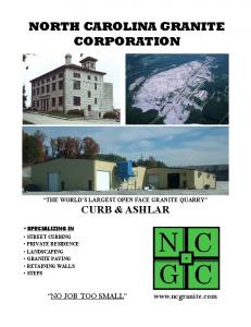 NORTH CAROLINA GRANITE CORPORATION
