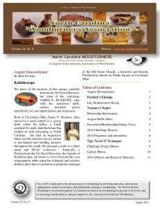 North Carolina WOODTURNERS Journal of the North Carolina Woodturners Association A Chapter of the American Association of Woodturners