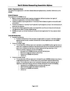 North Dakota Geocaching Association Bylaws