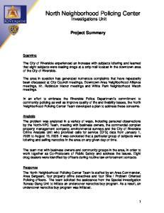 North Neighborhood Policing Center Investigations Unit