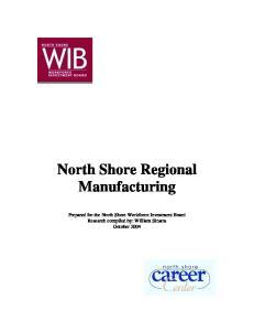 North Shore Regional Manufacturing