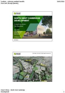 NORTH WEST CAMBRIDGE DEVELOPMENT