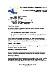 Northeast Evaluation Specialists, PLLC