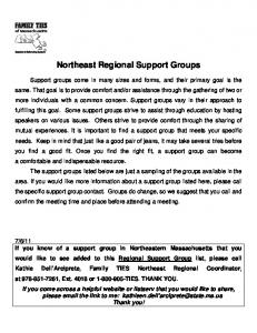 Northeast Regional Support Groups