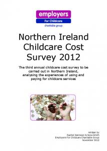 Northern Ireland Childcare Cost Survey 2012