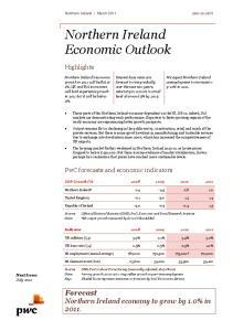 Northern Ireland Economic Outlook