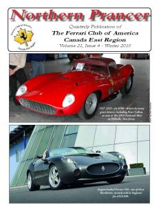 Northern Prancer. Quarterly Publication of The Ferrari Club of America Canada East Region Volume 21, Issue 4 - Winter 2010